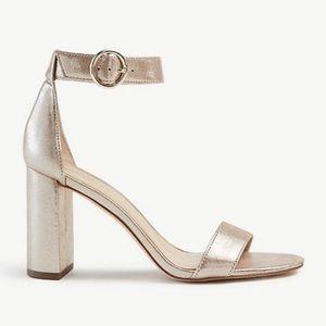 NEW Metallic Leather Block Heels